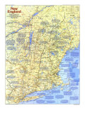 New England Map Poster, 1987, Side 1