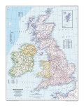 1979 British Isles Map Poster