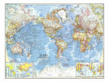 1960 World Map Prints by  National Geographic Maps