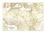 1954 Northern Africa Map Pósters por  National Geographic Maps