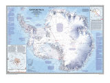 Antarctica Map 1987 Plakat af National Geographic Maps