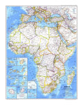 1980 Africa Map Print by  National Geographic Maps