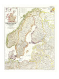 1954 Northern Europe Map Posters by  National Geographic Maps