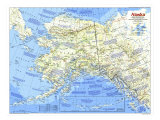 1984 Alaska Map Posters by  National Geographic Maps