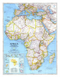 1990 Africa Map Posters by  National Geographic Maps