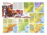 New England Map Poster, 1987, side 2