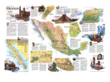 1994 Travelers Map of Mexico Posters