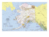 1975 Close-up USA, Alaska Map Posters by  National Geographic Maps