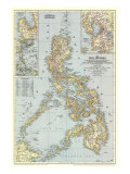 1945 Philippines Map Art Print