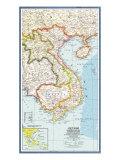 Vietnam, Cambodia, Laos, & Eastern Thailand Map, 1965