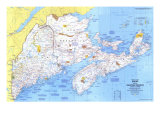 1975 Close-up USA, Maine Map Print
