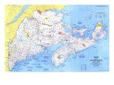 1975 Close-up USA, Maine Map Print
