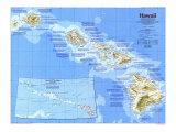 1983 Hawaii Map Print