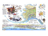 1994 Alaska Theme Poster by  National Geographic Maps