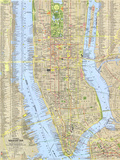 1964 Tourist Manhattan Map Arte di  National Geographic Maps
