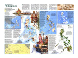 1986 History of the Philippines Map Wall Art