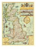 1964 Shakespeares Britain Map Prints
