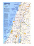 Special Places of the World, Holy Land Map, 1989, Side 1, Poster