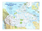 Yukon And Northwest Territories Map 1997 Posters