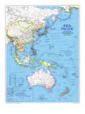 1989 Asia-Pacific Map Posters by  National Geographic Maps