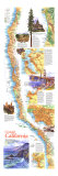 1993 Coastal California Map Posters by  National Geographic Maps