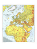 1942 Theater of War in Europe, Africa and Western Asia Map Prints