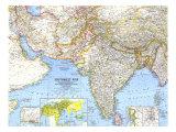 1963 Southwest Asia Map Prints