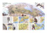 1985 Canada Vacationlands Map Poster by  National Geographic Maps