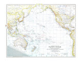1942 Theater of War in the Pacific Ocean Map Prints
