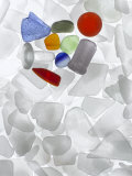 An array of colored sea glass Photographic Print by Jeanne Modderman