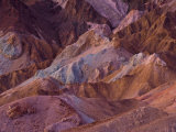 The different coloured rock of the Artist's Palette in Death Valley Photographic Print by Michael Melford
