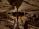 Iron Hoop cave chamber with an accumulation of mineral deposits Photographic Print by Stephen Alvarez