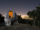 An astronomer works inside a dome at the Mount Wilson Observatory Photographic Print by Jim Richardson