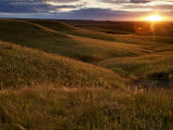 Sunset over the Kansas prairie Fotografiskt tryck av Jim Richardson