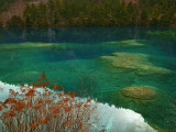 Heavy Carbon Content Colors the Water of Sleeping Dragon Lake Photographic Print by Michael S. Yamashita