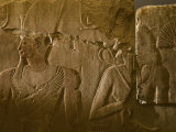 Relief of Hatshepsut and her husband, Thutmosis II Photographic Print by Kenneth Garrett
