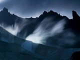 Steam vents between ridges at the base of Mount Zubchatka Photographic Print by Michael Melford