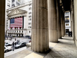 Wall Street and the New York Stock Exchange from Federal Hall Photographic Print by Justin Guariglia