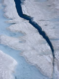 Detail of Sperry Glacier and meltwater Photographic Print by Michael Melford