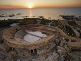 Caesarea's amphitheater hugs the Mediterranean Coast Photographic Print by Michael Melford