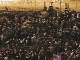 Jews gather every day to pray at the Western Wall in Jerusalem Photographic Print by Michael Melford