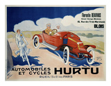 Hurtu Automobiles et Cycles Posters by  O'Galop