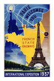 Paris, International Exposition 1937 Poster by  Lilden