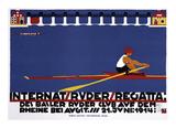 Internat, Ruder, Regatta Poster by Niklaus Stoecklin