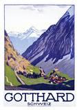 Gotthard, Schweiz Prints by Emil Cardinaux