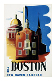 New Haven Railroad, Boston Prints by Ben Nason