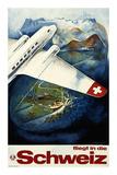 Fliegt in die Schweiz Posters by Eugen Häfelfinger