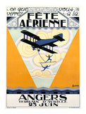 Fete Aerienne Angers Prints by P. L. Armand