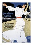 Lawn Tennis Tunier Posters av Hans Rudi Erdt