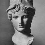 Reproduction of Bust of Athena Fotografisk tryk af Henry Groskinsky